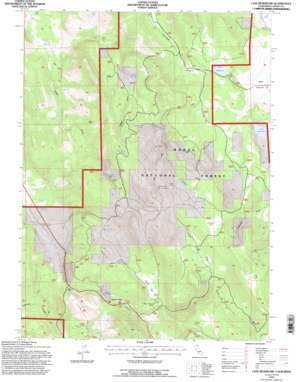 Lane Reservoir topo map