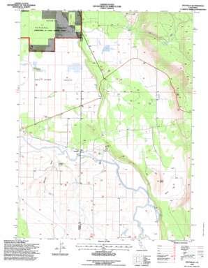 Pittville topo map