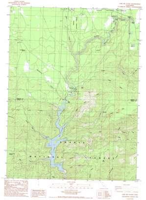 Lake Mccloud topo map