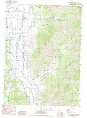 Mcconaughy Gulch topo map