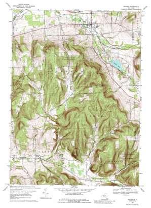 Dryden topo map