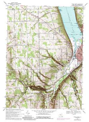 Ithaca West topo map