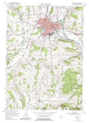 Cortland topo map