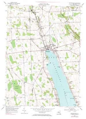 Skaneateles topo map