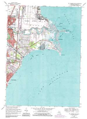 Mount Clemens East topo map