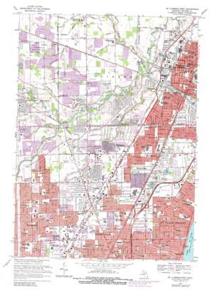 Mount Clemens West topo map
