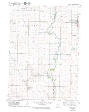 Newell West topo map