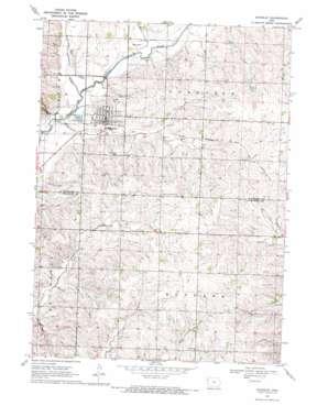 Kingsley topo map
