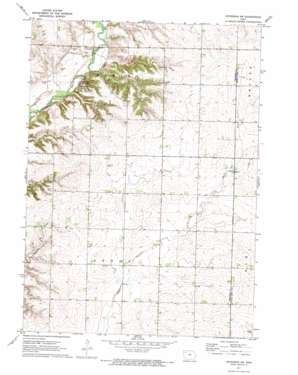 Peterson Sw topo map