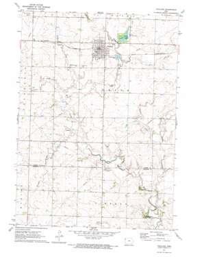 Paullina topo map