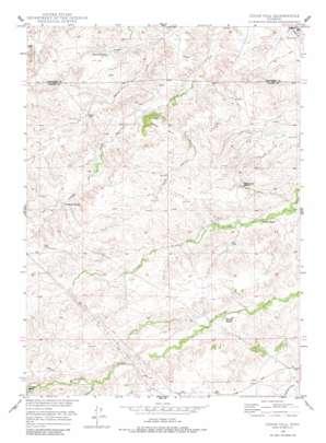 Cedar Hill topo map
