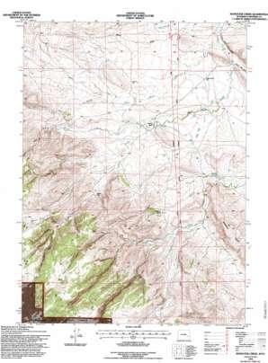 Maneater Creek topo map