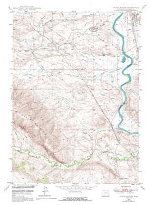 Chalk Buttes topo map