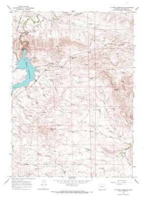 La Prele Reservoir topo map