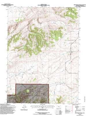 Protsmans Knob topo map