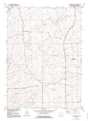 Clausen Ranch topo map