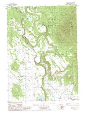 Spodue Mountain topo map