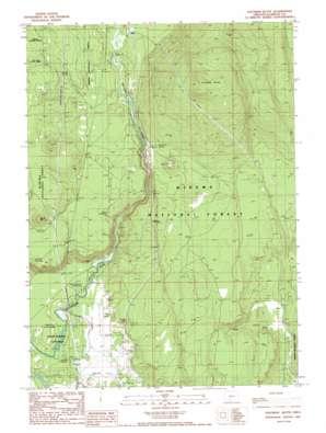 Soloman Butte topo map