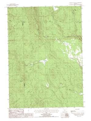 Hamelton Butte topo map