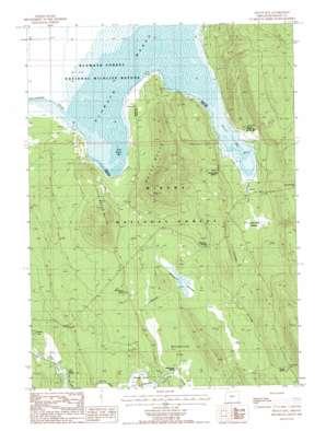 Wocus Bay topo map