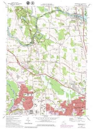 Brewerton topo map