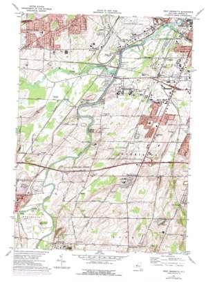 West Henrietta topo map