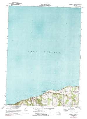 Ninemile Point topo map