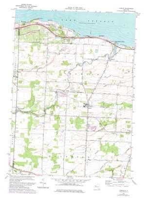 Hamlin topo map