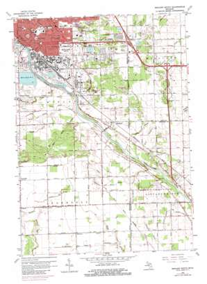 Midland South topo map