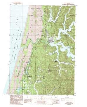 Lakeside topo map