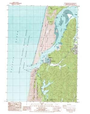 Winchester Bay topo map
