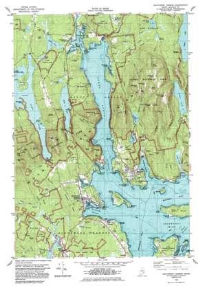 Southwest Harbor Topographic Map ME  USGS Topo Quad 44068c3