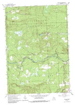 Red Oak topo map