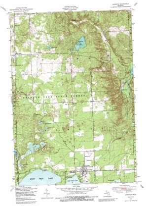 Lewiston topo map