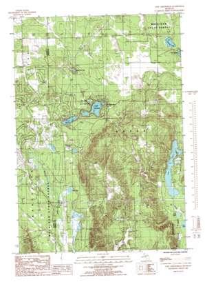 Lake Arrowhead topo map