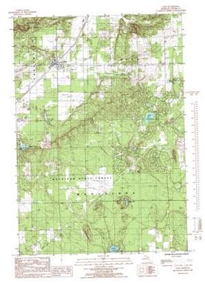 Alba topo map