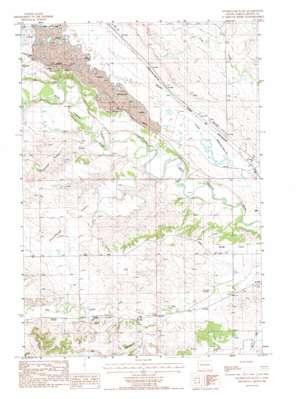 Sourdough Flats topo map