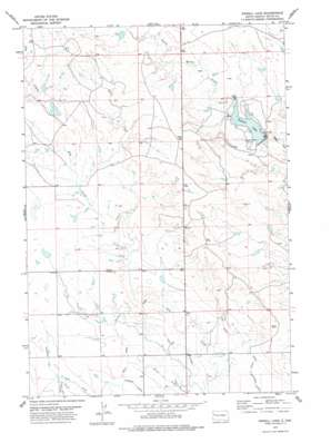 Newell Lake topo map