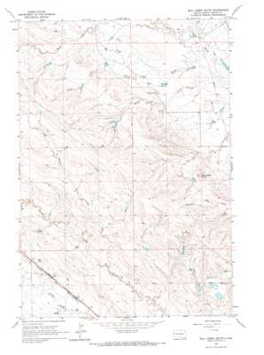 Bull Creek Butte topo map