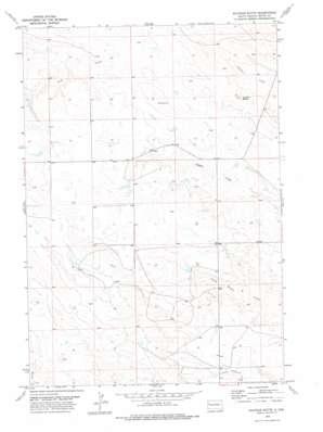 Sulphur Butte topo map