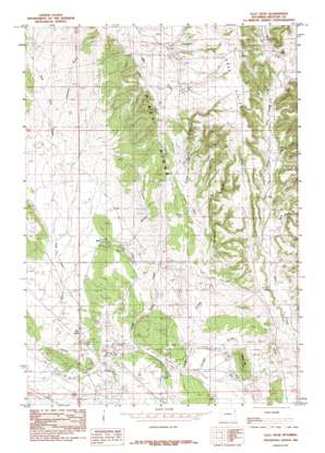 Clay Spur topo map