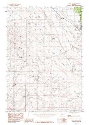 Upton West topo map