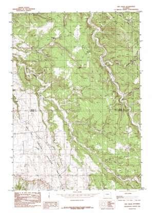 Dry Draw topo map
