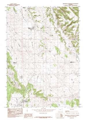 Arrowhead Reservoir topo map
