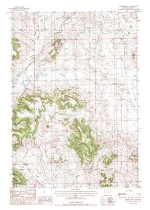 Pfeiffer Hill topo map
