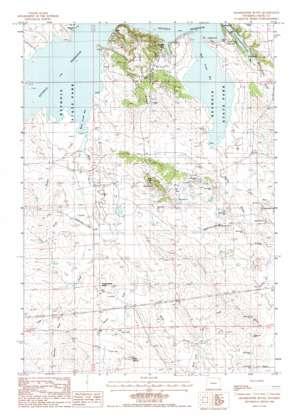 Grasshopper Butte topo map