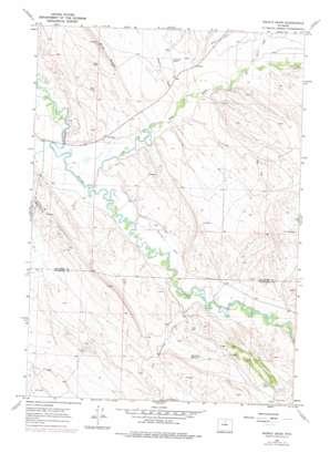 Weintz Draw topo map