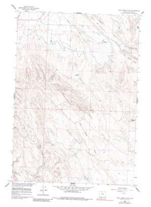 Wild Horse Flats topo map