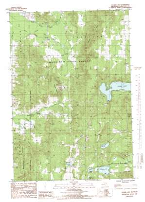 Thumb Lake topo map