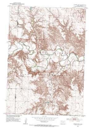 Lantry Nw topo map